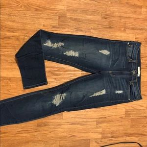 KanCan High Waisted Distressed Jeans - size 28/9